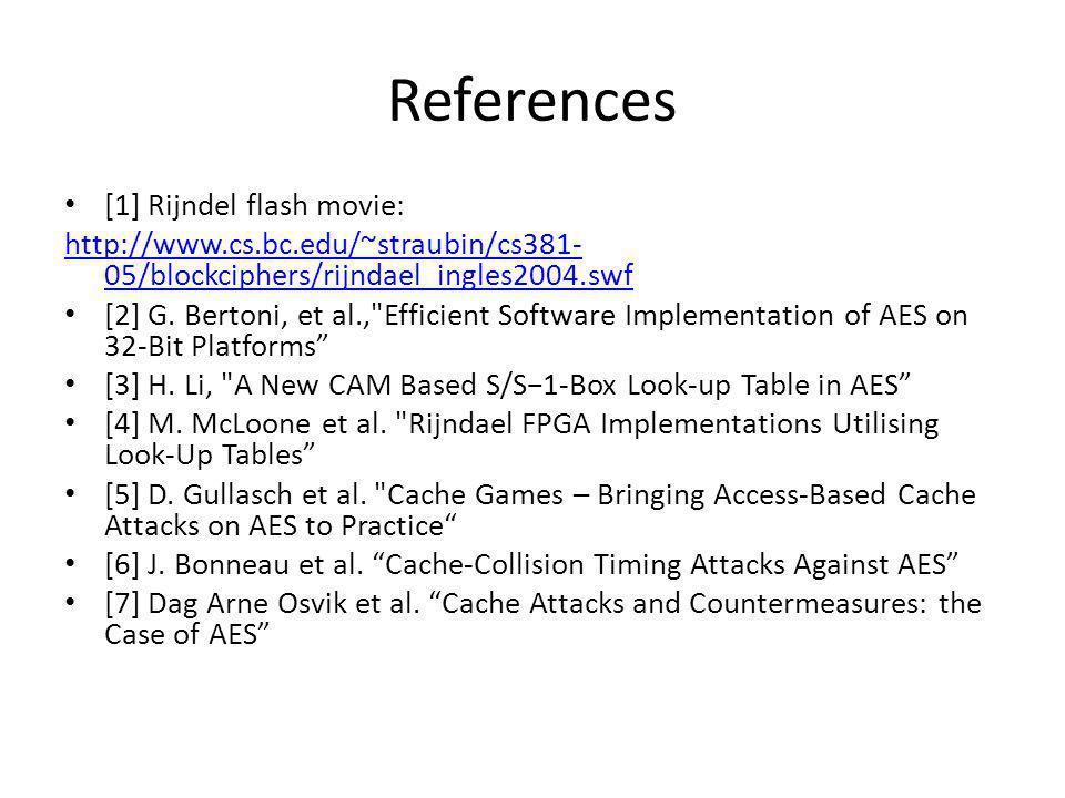 References [1] Rijndel flash movie: